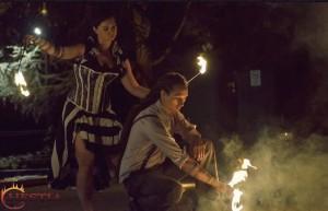 Hestia tűztánc kisebb show