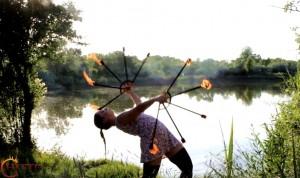 Hestia tűzzsonglőr előadás
